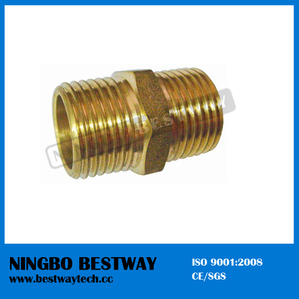 Brass Pipe Fitting Nipple Fast Supplier (BW-635)
