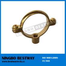 Pipe Clips Brass Rapid Fix Single Ring