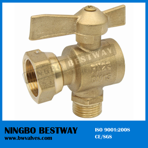 Angle type swivel nut Brass Ball Valve male thread (BW-B74)