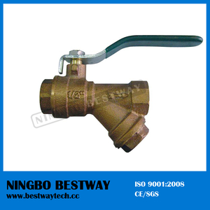 Economic Bronze Ball Valve with Filter Price (BW-Q08)