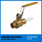 Lead Free Brass Ball Valve with Locking Handle
