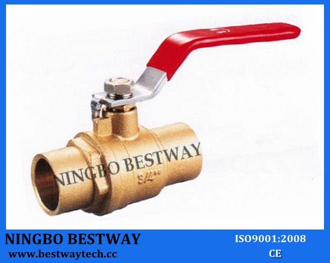600wog Brass Solder Ball Valve