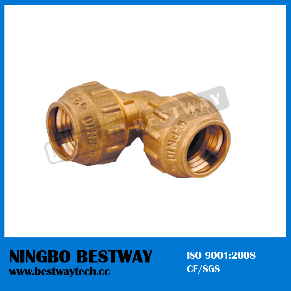 Brass Female elbow Compression Fitting (BW-304)