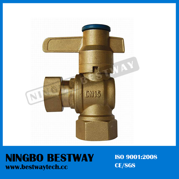 Lockable Brass Ball Valve for Water Meter (BW-L05)