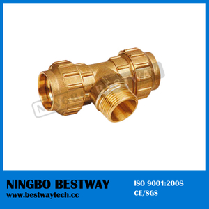 Brass Male Thread Tee Manufacturer Fast Supplier (BW-309)
