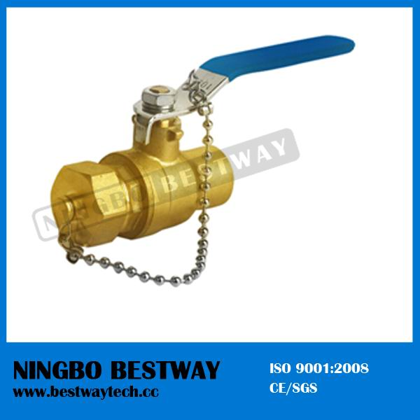 Lead Free Brass Compression Ball Valve with Drain