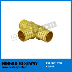 Brass Pex Tee Barbed Fitting Three Way Fitting